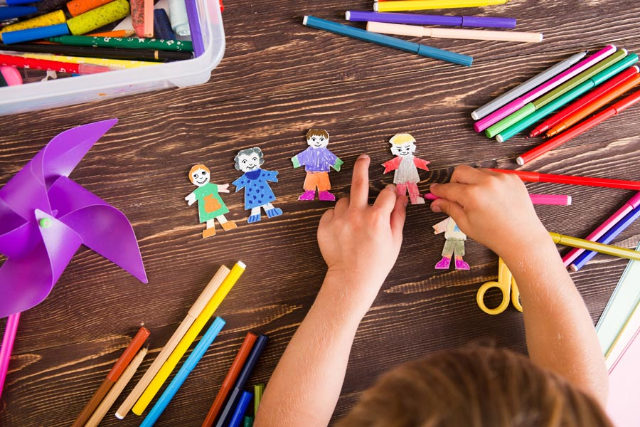 Child coloring art craft
